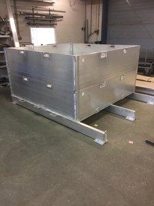 Zandopslag container